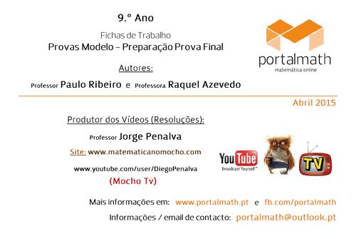 9Ano - Provas Modelo 2015