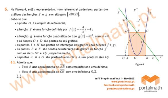 9Ano Matemática - Novo Programa - FT Preparação Prova Final - Nov2015
