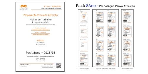Pack 8º Ano Aferição Materiais Preparação Provas Matemática
