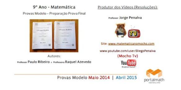 9º Ano Provas Modelo de Matemática Preparação Prova Final Resoluções Vídeos