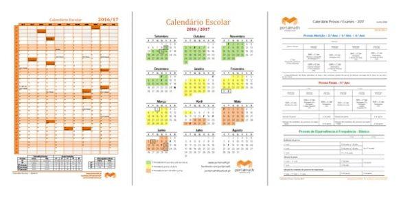 Calendário Escolar 2016/17 Provas Aferição Finais Exames 2017