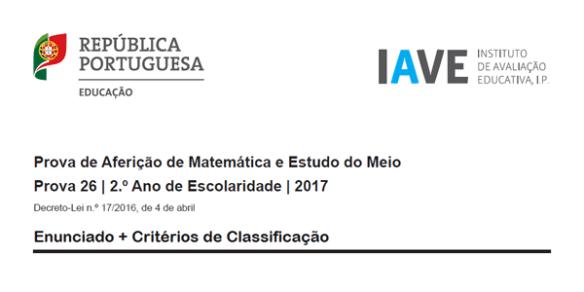 2Ano - Provas Aferição 2017 2º ano Matemática Português