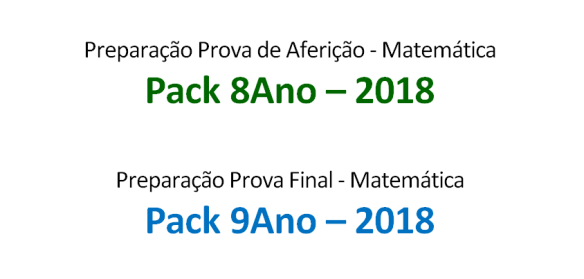8Ano + 9Ano - Packs 2018 portalmath matemática fichas de trabalho prova aferição prova final exercícios