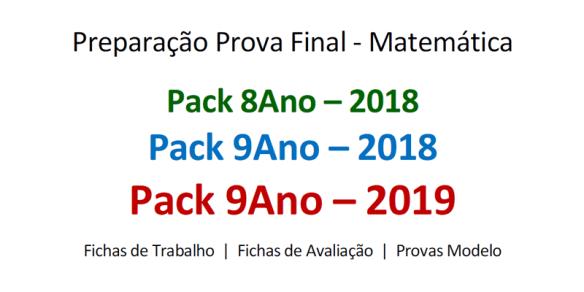 Packs 2019 portalmath preparação prova final matemática 9º ano
