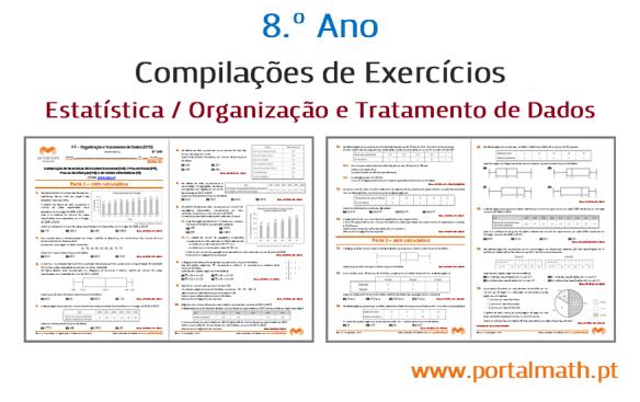 portalmath matemática estatística compilação exercícios quartis média mediana diagrama extremos e quartis