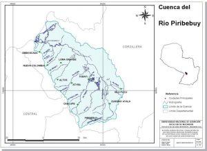 Río Piribebuy, caudal y extensión total