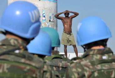 Brasileiros na Missão de Paz no Haiti. (Foto: Marcello Casal Jr/ Agência Brasil (26/11/2010)