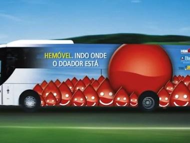 Shopping de Salvador recebe unidade móvel do Hemoba