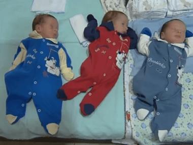 Trigêmeos idênticos nascem em Goiás