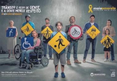 Maio amarelo: plano nacional de redução de mortes e lesões no trânsito