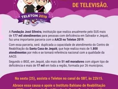 Fundação José Silveira faz parceria com a AACD e participa do Teleton 2019