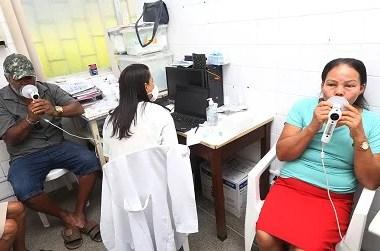 Hospital realiza mutirão de testes de sopro