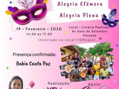 Girando a Fala. -  Nesta quarta- feira (19/02), Patrícia Tosta estará na Livraria Paulinas, às 14h