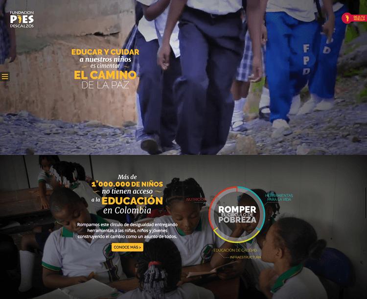 O site novo da Fundação Pies Descalzos