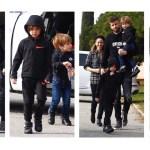 Shakira, Piqué, Milan e Sasha em Barcelona
