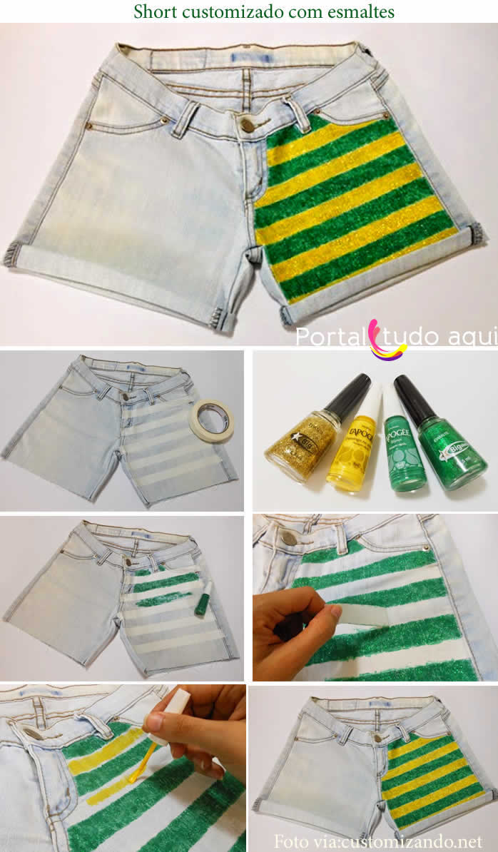 short-custommizado-para-copa-2014
