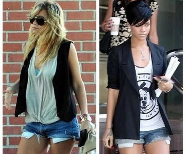 Shorts Jeans curto com bolso aparecendo  Aprenda como usar  Portal ... 6dbee218c4