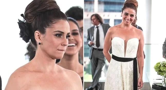 Detalhes do vestido de noiva da delegada helô