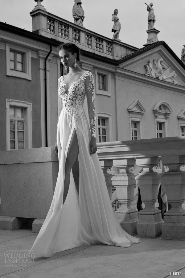 berta-bridal-winter-2014-wedding-dress-long-illusion-sleeves