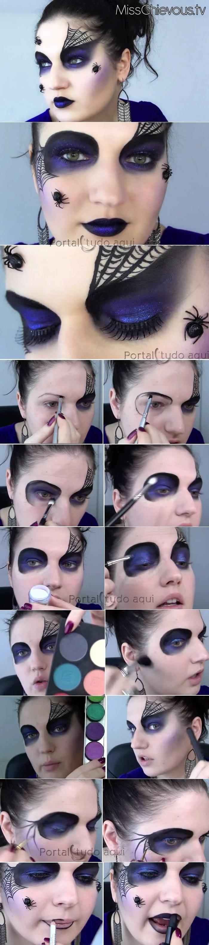 maquiagem-halloween-aranha-negra-passo-a-passo