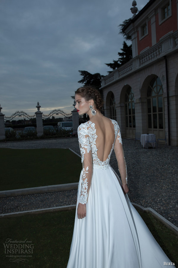 berta-bridal-winter-2014-wedding-dress-long-illusion-sleeves-back