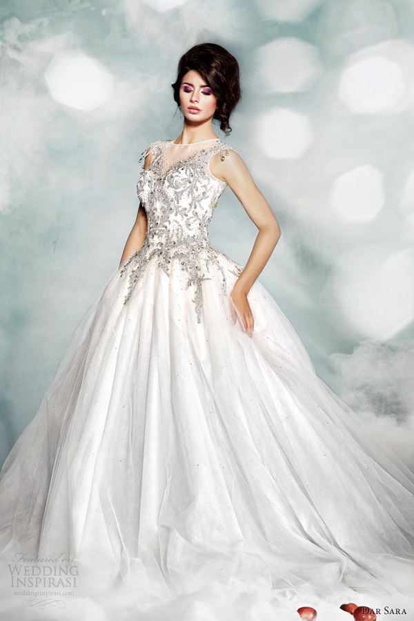 dar-sara-high-fashion-2014-wedding-dress-illusion-neckline-ball-gown
