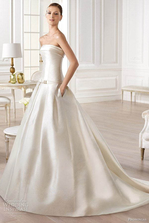 11-pronovias-atelier-2014-yency-strapless-wedding-dress