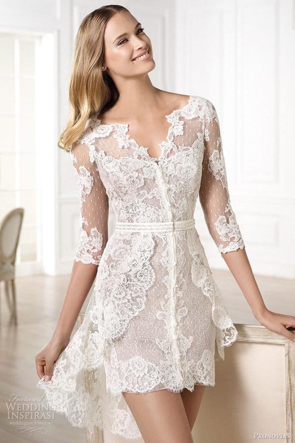 17-Atelier-Pronovias-2014-yecelis-lace-short-wedding-dress