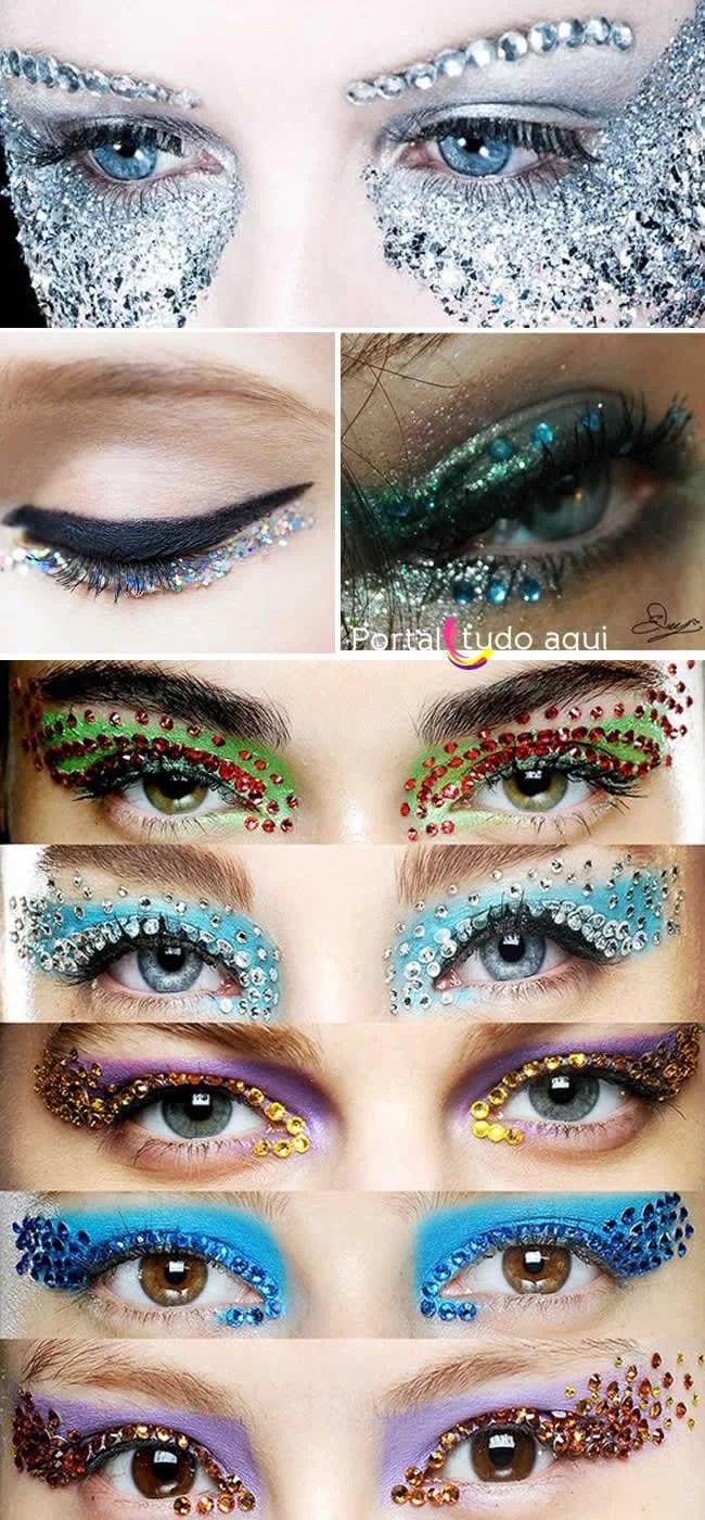 maquiagem-carnaval-chatons-cristais-strass