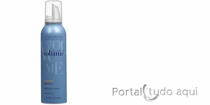 como-dar-volume-aos-cabelos-fnos-Finalizador John Frieda Luxurious Volume Thickening Mousse