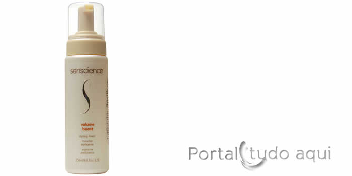 como-dar-volume-aos-cabelos-fnos- Senscience Volume Boost Styling Foam Mousse