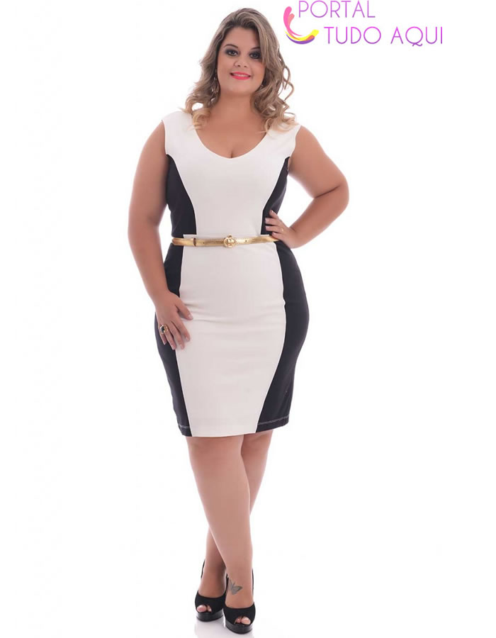 Lindas roupas plus Size para Reveillon -25