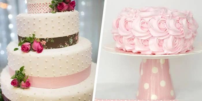 Receitas de bolo para confeitar (Bolo decorado com pasta americana e glacê rosa).
