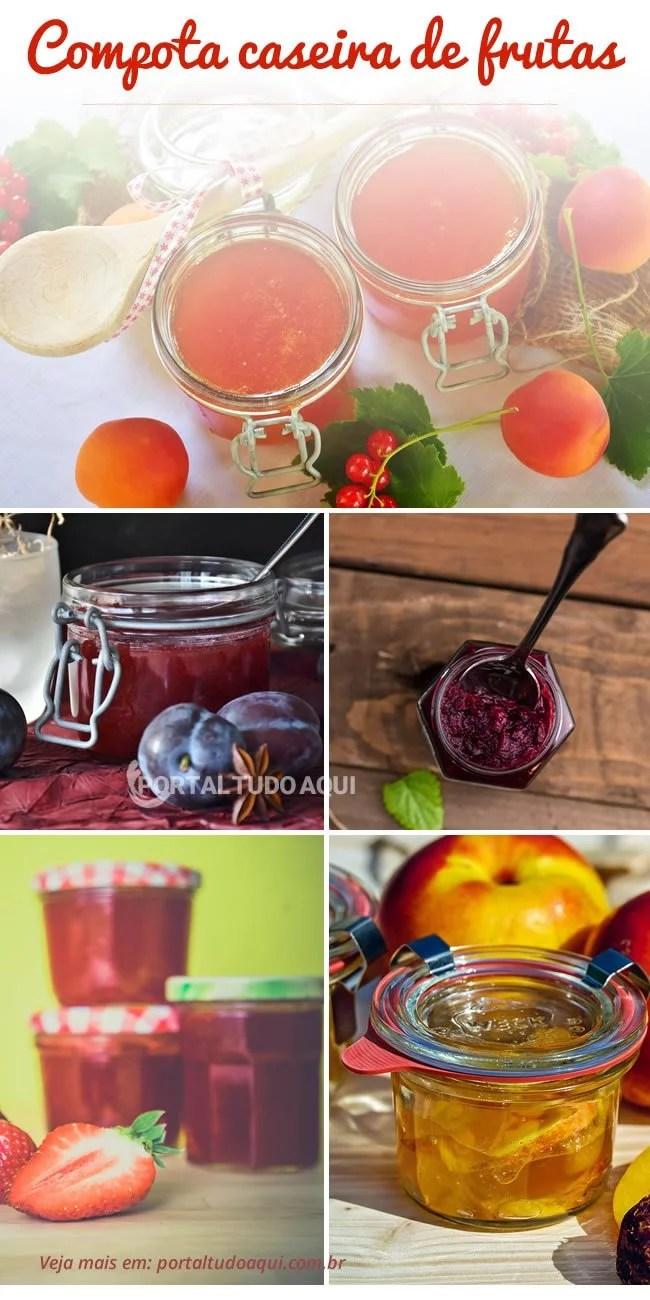 compotas de frutas variadas.