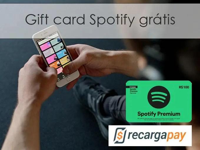 Gift card spotify grátis
