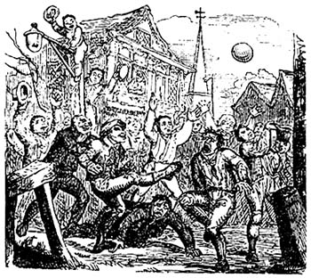 Ashbourne Shrovetide Football Royal Medieval