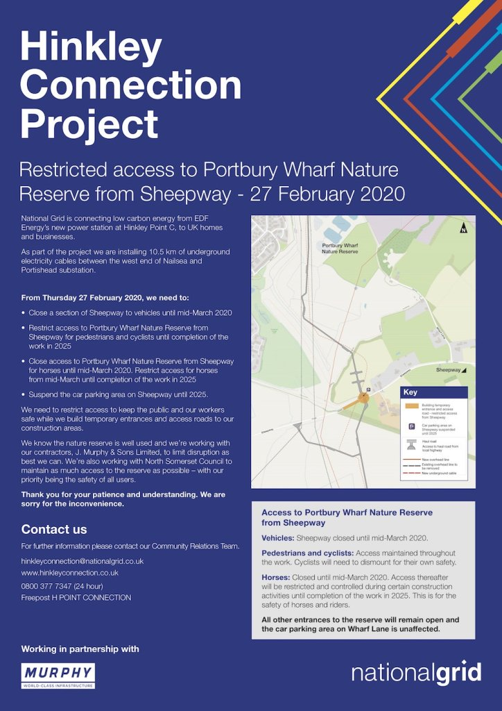 Hinkley Connection Project notice