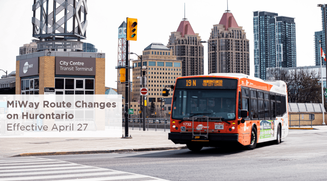 MiWay Changes Local Routes on Hurontario Corridor due to LRT Construction