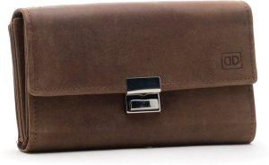 DutchDesign - 01G604 - bruin - horeca - kelner - portemonnee - slot sluiting - leer