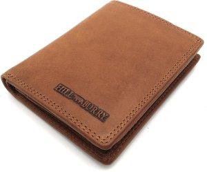 Hill Burry - V88810 - 6402 (RFID) - echt lederen - heren portemonnee met ingebouwde RFID chip - bruin