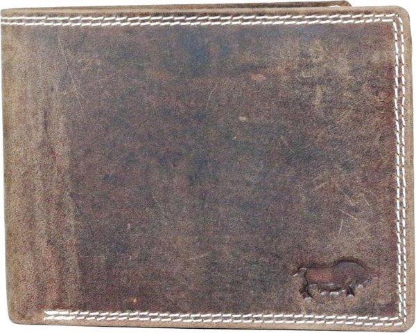 Leren Portemonnee Heren Lichtbruin Met Groot Ritsvak RFID - Heren Portemonnee Anti - Skim Vintage Leer Cognac