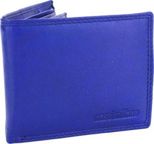 Portemonnee Heren Massi Milliano leder (PHXW303-5) -Royal-blauw -