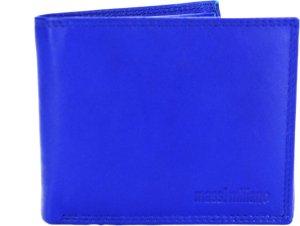 Portemonnee Heren Massi Milliano leder (PHXW310A-5) - royal-blauw