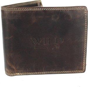 Portemonnee Heren Wild leder d.bruin 11,5x1,5x9cm(MW210-15) -