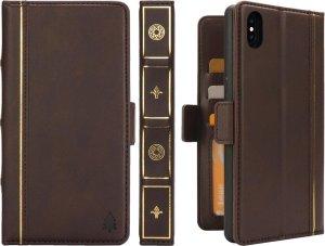 Bijbelstijl Zakelijk Horizontaal Flip Leren Tasje voor iPhone XS Max, met Kaartsleuven & Fotolijst & Houder & Portemonnee (Koffie)
