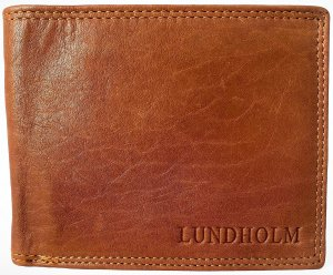 Lundholm RFID premium nappa leather Heren Billfold Cognac