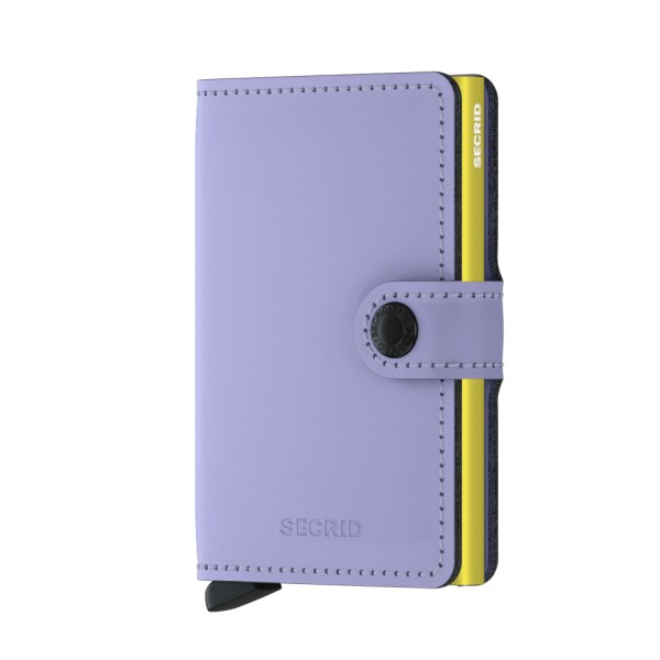 Secrid Mini Wallet Portemonnee Matte Lila / Lime