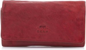 Bear Design Cow Lavato Leren Dames Portemonnee - Rood