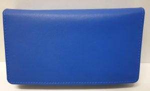 Dames Overslagportemonnee met dubbele drukker - Kobalt Blue