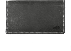 Dames Portemonnee RFID In Zwart Buffelleer - Grote Dames Portemonnee Anti-Skimming Met Dubbele Klep